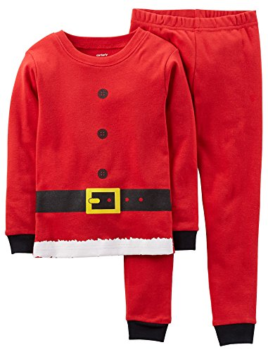 Carter's Boys Santa Christmas 2-Piece Snug Fit Cotton Pajamas