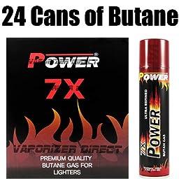 Power 7x Premium Quality Butane Gas - 24 Cans