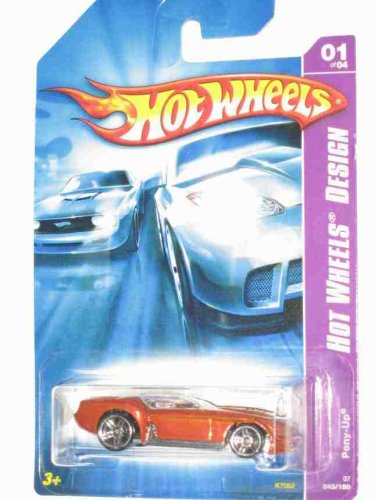 Hot Wheels Design Series #1 Pony-Up Orange #2007-45 Collectible Collector Car Mattel Hot Wheels - 1