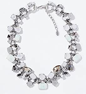 GOMO gem choker necklacs chunky crystal necklace silver Chains Necklacs & Pendants jewelry