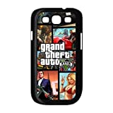 Grand Theft Auto V Five 5 Samsung Galaxy S3 Case, diy & customized Grand Theft Auto Samsung Galaxy S3 I9300/I9308/I939 Black Plastic Protective Case Cover, Personalized, Cool, Stylish and Game Style Phone Case at Private-custom