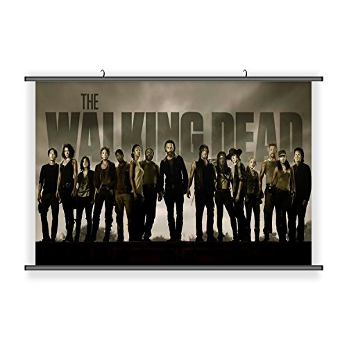 Zombie The Walking Dead Hanging Wall Scoll Fabric Decorative Horizontal Poster (21.6