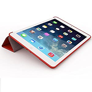 iPad Air 2 Case (iPad 6) - KHOMO DUAL Super Slim Red Cover with Rubberized back and Smart Feature (Built-in magnet for sleep / wake feature) For Apple iPad Air 2 Tablet from iPad Air 2 Case