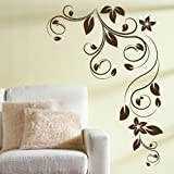 Huge Corner Flower Wall Sticker / Large Interior Art / Floral Wall Transfer FL22