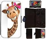 Flip Cover Hülle Größe L Motiv 457 Giraffe Animiert