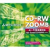 三菱化学 SW80EU1 CD-RW 700MB 1枚ジュエルケース入り