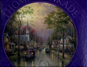"Thomas Kinkade: Hometown Morning: 750 Piece 24"" Round Puzzle"