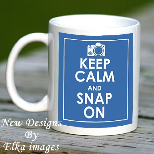 KEEP CALM SNAP ON, MUG, CUP, GIFT, PHOTOGRAPHY,