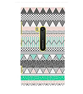 Abstract Zig Zag Pattern 3D Hard Polycarbonate Designer Back Case Cover for Nokia Lumia 920 :: Microsoft Lumia 920