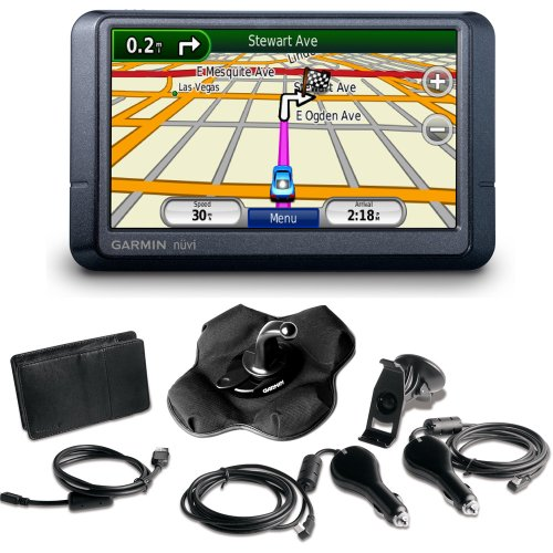 Garmin nüvi 255W 4.3-Inch Widescreen Portable GPS Navigator with Accessory Bundle