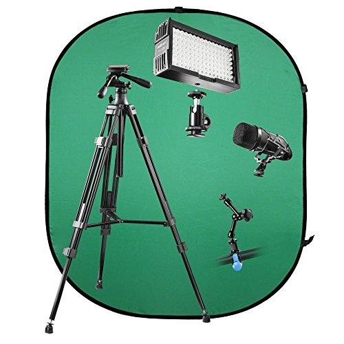 walimex-pro-v-log-set-1-fur-video-blog-youtube-filme-vor-green-screen