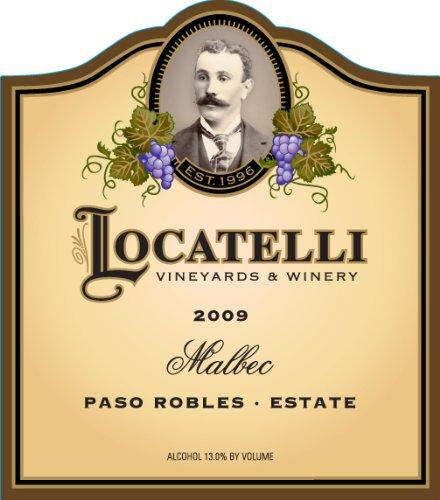 2009 Locatelli Vineyards And Winery Malbec Paso Robles Locatelli Vineyard Estate 750 Ml