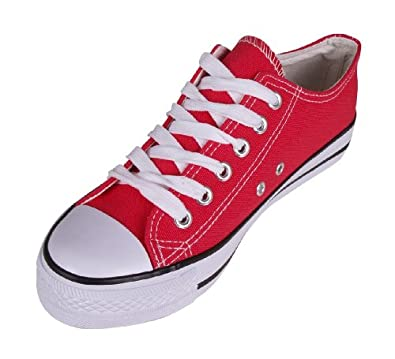 canvas trainers shoes lace up plimsoll baseball pumps low