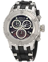 Invicta Women's 0530 Reserve Chronograph Black Mother-Of-Pearl Dial Black Polyurethane Watch