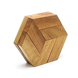 Amazon.com - Hexagon Puzzle Wooden Interlocking Brain ...