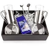 Geschenk Set Winter-Früchtetee mit je 2 Teegläsern, Untersetzern und Löffeln
