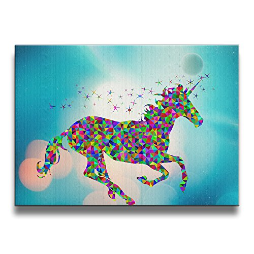 [PHOEB Indoor Decorations - Rainbow Unicorn Frameless Art Frame For 16x20 Inch Photo - Displays Prints, Posters, Photos, Kids Work In Home, Office,] (Hawk Guy Avengers Costume)