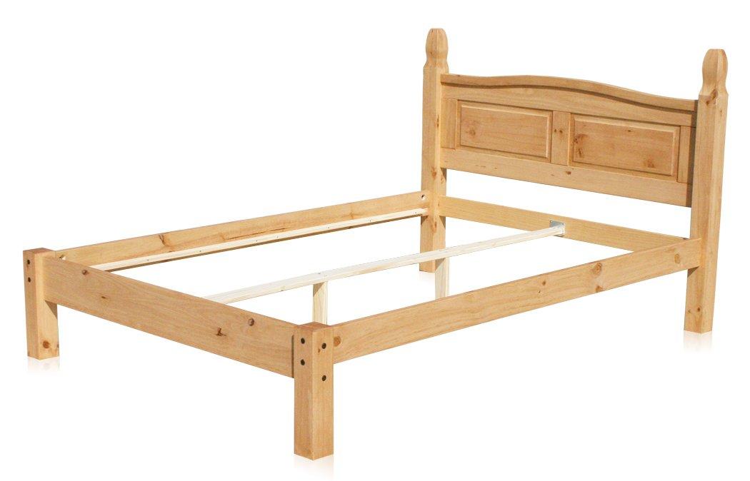 "KMH®, Doppelbett ""Corona"" aus massivem Pinienholz (140 x 200 cm) (#201019) kaufen"