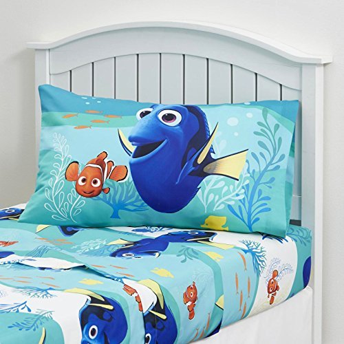 Kids Bedding Set 3 Piece Finding Dory Nemo Bed Sheet Set Twin Size Children Bedroom (Child Bed Sheets compare prices)
