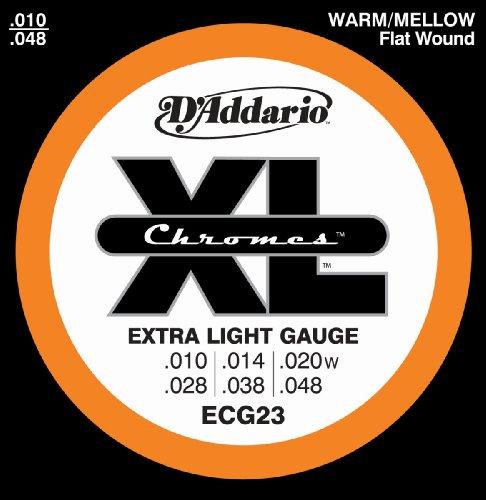 D'Addario ECG23 Chromes Flat Wound Electric Guitar