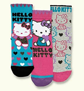 3 Pairs of Assorted Hello Kitty Socks