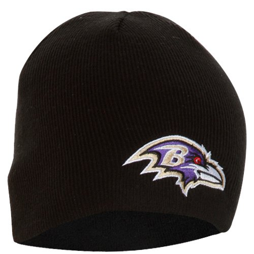 Nfl Baltimore Ravens '47 Brand Beanie Knit Hat (Black, One Size) front-1007723