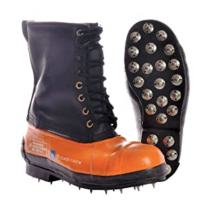 Chain Saw Boots, Steel Toe, 11 In, 10, PR