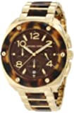 Michael Kors Tribeca Tortoise Acetate and Stainless Steel Brown Dial Watch