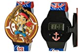 Disney Jake and the Neverland Pirates Kids LCD Watch with Molded Flip Top