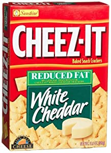 Cheez-It Baked Snack Crackers, Reduced Fat White Cheddar, 11.5-Ounce Boxes (Pack of 4)