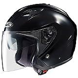 HJC Solid Men's IS-33 Harley Touring Motorcycle Helmet - Black / Medium