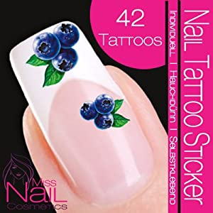nailart nail tattoo sticker fruit fruits blueberry nail decals beauty. Black Bedroom Furniture Sets. Home Design Ideas