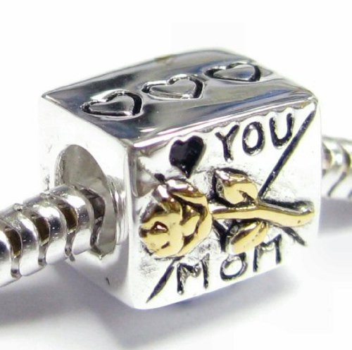Queenberry Gold on Sterling Silver Love You Mom