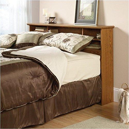Sauder Orchard Hills Bookcase Headboard, Full/Queen, Carolina Oak Finish