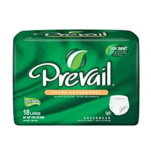 Prevail Underwear Extra Absorbency Large Pack/18 by First Quality