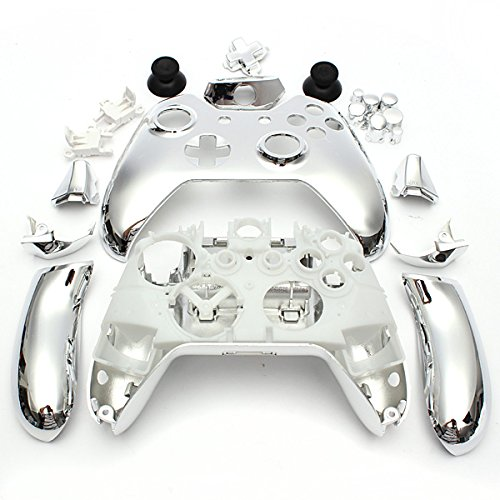 Wireless Controller Replacement Mod Kit Shell Case For Xbox One Chrome Sliver