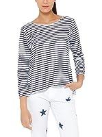 Tantra Camiseta Manga Larga Striped with back printed Star (Azul Oscuro)