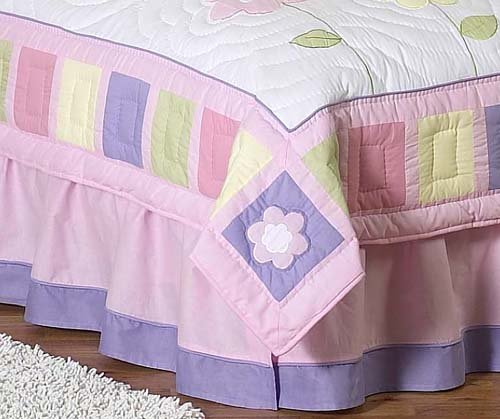 Pink and Purple Butterfly Queen Bed Skirt by JoJo Designs