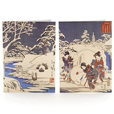 V&A Christmas Cards - Garden in the Snow (Pack of 12, Luxury Wallet)||RNWIT||EVAEX