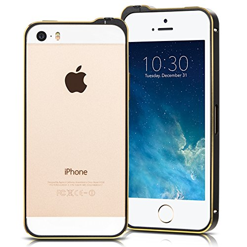 Ivapo Lightweight Ultra-Thin Luxury Premium Metal Bumper Case For Iphone 5S 5 (Mm434) (Black)