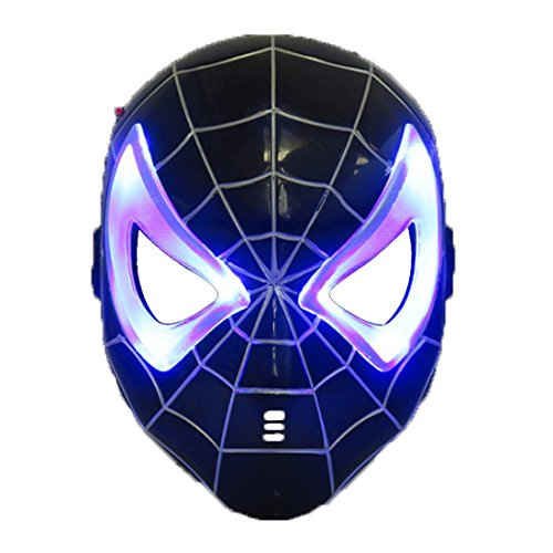 Black spiderman LED Mask