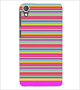 PrintDhaba Tribal Pattern D-1727 Back Case Cover for HTC DESIRE 820 (Multi-Coloured)
