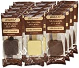 Hot Chocolate on a Stick - 12 Pack Variety Gift Box - Dark, Milk, Vanilla White Chocolate