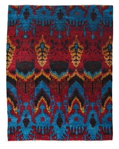 Darya Rugs Silk One-of-a-Kind Rug, Blue, 7' 10 x 10' 1