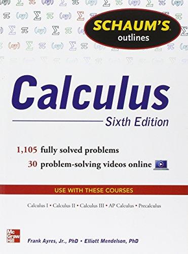 Schaum's Outline of Calculus: 1.105 Solved Problems. Con DVD (Schaum's Outline Series)