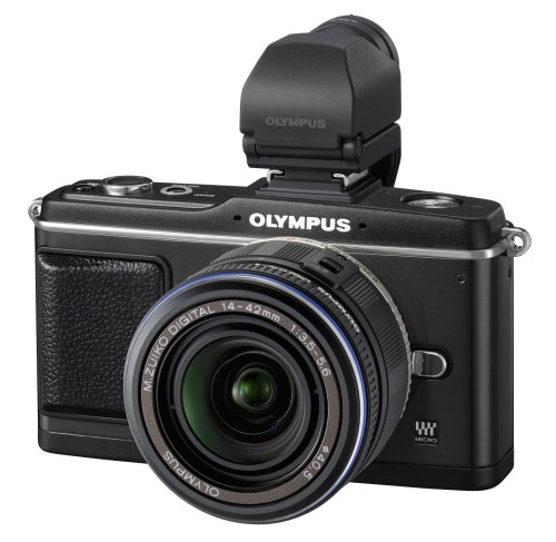 Olympus E-P2 Compact System Camera (14-42mm lens  &  VF-2 electronic viewfinder)