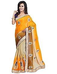 Bano Tradelink Women's Chiffon Saree(7030)