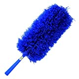 *SALE* Duster: Fluffy Microfiber by CleansGreen, Bendable, Extendable with Hand Wand Threaded for Long Handle & Extension Pole - Best for Cleaning & Dusting Blinds, Ceiling Fan, Car, Cobweb, even Floor - Better than Mop, Cloth, Towel, Brush, Feather, Lambswool, Electrostatic, Gloves, Mitt Sets - Reusable, Washable, No Refills Required | Risk Free with Product Replacement Policy