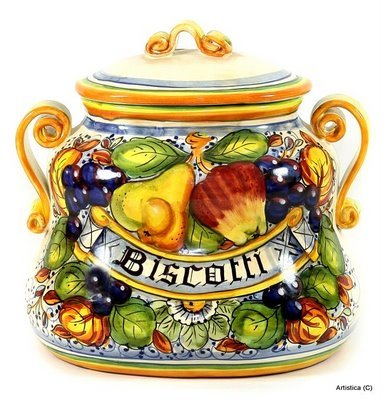 FRUTTA: Oval Biscotti Jar [#4333/H-FRU] (Oval Cookie Jar compare prices)