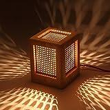 Creative Arts Lampe Persönlichkeit Schreibtischlampe Raum stilvolle Schlichtheit aus Holz Nachttischlampe Schlafzimmer Lampe Holz